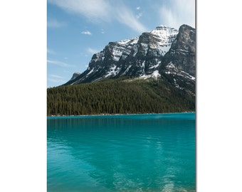 Mountain Picture, Lake Louise Print, Canadian Landscape Photography, Turquoise Lodge Decor, Rockies Resort Accent, 8x10 8x12 11x14 12x18