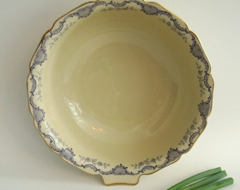 Heinrich & Company-Selb- (Villeroy and Boch) Fine German China Vegetable Bowl-Lug Handle-Antique-Bavaria, Germany