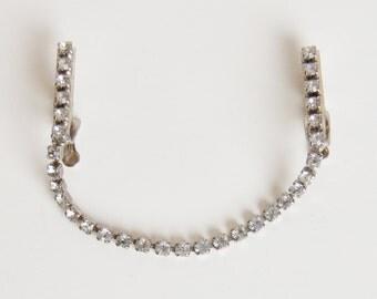 Vintage 50s 60s Crystal Rhinestone Sweater Clip