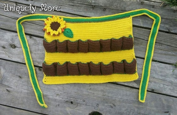 Crochet Egg Apron : Original Egg Apron,Pocket Egg Collecting,Crochet Half Apron,Custom ...