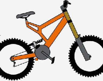 Bmx bike digital embroidery design, Bmx bike digitized embroidery design