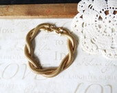 snake CHARMER multi-strand vintage twisted bracelet | classic | gold | stacking | braided | everyday | basic | sailor | nautical | shiney
