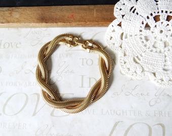 snake CHARMER multi-strand vintage twisted bracelet | classic | gold | stacking | braided | everyday | basic | sailor | nautical | shiney