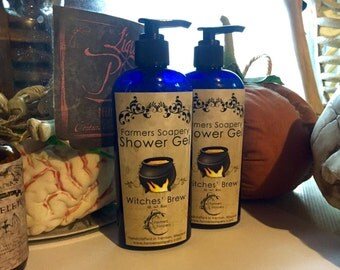 Witches Brew Shower Gel - Liquid Soap, Body Wash, Bubble Bath - 8oz