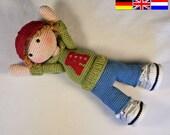 Crochet pattern for doll JOSH (Deutsch, English, Nederlands)