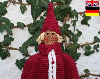 Amigurumi SANTA - crochet pattern, PDF in English, Deutsch