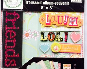 "mambiKIT Scrapbook Themed Kit – 8x8""- Best Friends - paper, stickers, girls laugh LOL teens - brand new!"
