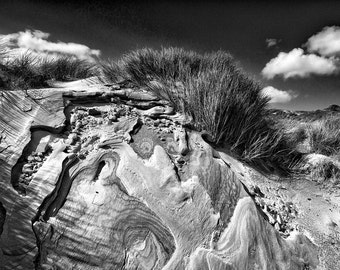 Tramore Beach, Wild Atlantic Way, Irish landscape photography, black and white photography