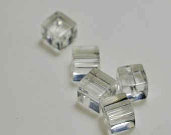 Clear glass cubes, 6mm - #2001