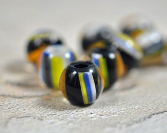 Multicolor glass beads, 12mm - #186