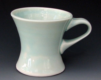 TRANSLUCENT PORCELAIN MUG - Small Ceramic Mug - Coffee Mug - Pottery Mug - Porcelain Cup - Studio Pottery