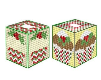 Plastic Canvas Holiday Delight Boutique Tissue Covers  Instant Download