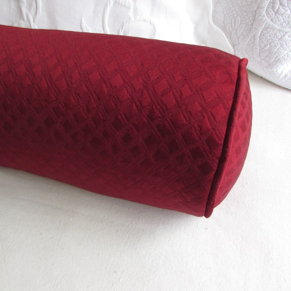 Items similar to GRAND BOLSTER 8x54 pillow in BURGUNDY red ...