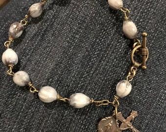 Job's Tear Rosary Bracelet