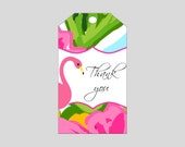 Flamingo Gift Tag ~ Printable gift labels ~ Can be personalized