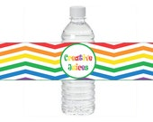 Art Party Water Bottle Labels ~ Instant Download ~ Printable