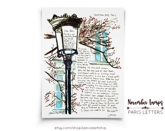 November Lamps: Paris Letters, November, A letter about the darkness that descends over the City of Lights in November