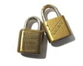 Walsco Padlocks VINTAGE Padlocks Two (2) NO Key Small Padlocks Walsco Small Locks Vintage Art Assemblage Jewelry Supplies (S26)