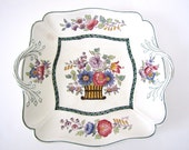 Antique Wedgwood Etruria Porcelain China Floral Serving Dish 1900s Rare from AllieEtCie