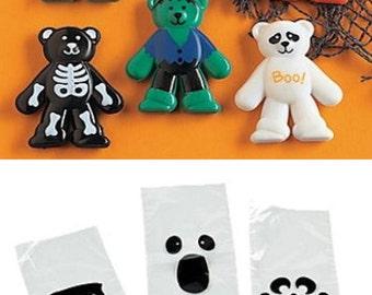 12 Halloween Party Favor Bags, Halloween Treat Bags, Halloween Party Favors, Halloween Candy Bags, Halloween Favors, Party Favor Bag Kit