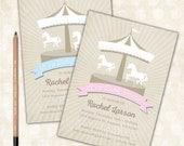 Baby Shower Invitation- Rustic / Carousel / Rustic Carnival / Baby Boy / Baby Girl