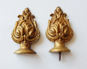 french metal decorations curtain rod decorations