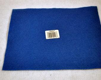 25 Squares of Blue Felt