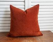 Paprika velvet pillow cover