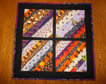 Halloween Quilted Table Runner/ Quilted Table Topper