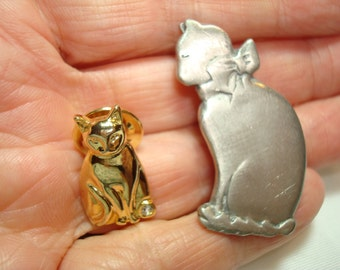 Two Kitty Lapel Pins.
