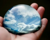 Glass paperweight, Nature home decor, Nature photography, Blue Sky, Clouds, Cloud art, Gift for man, Unique gift,  Nature art