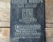 Vintage Writing Tablet Letterpress Large Printing Type Plate