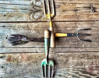 When You Come to a Fork in the Road...Vintage Fall Garden Hand Tool