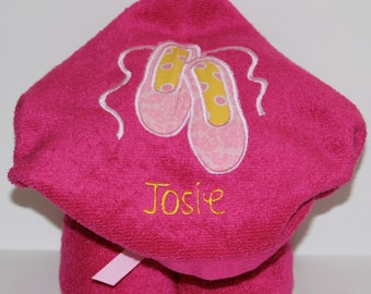Ballet Hooded Towel - Personalized
