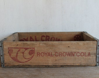 Vintage RC Cola Wooden Crate // Vintage Soda Crate // Royal Crown Cola