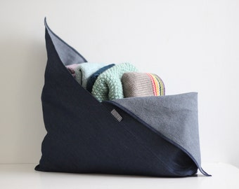 Large Project Bag - Origami Bag - Knitting Bag - Bento Bag - Reusable Shopping Bag