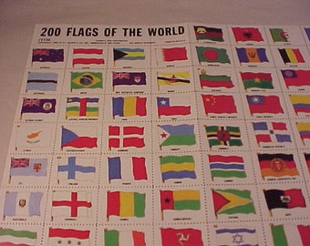 200 Flag Stamps of the World Stamp Collecting