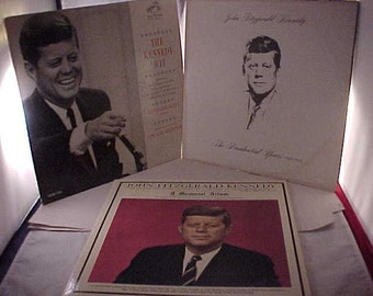 John F. Kennedy Vinyl Record Albums lot of 3