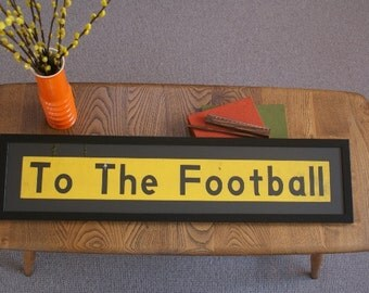 Vintage Bus Blind - 'To The Football'