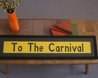 Vintage Bus Blind - 'To The Carnival'