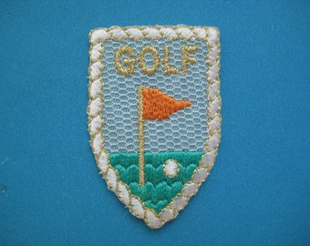Iron-on Embroidered Patch GOLF 2.1 inch