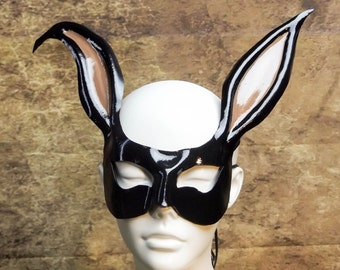 Black Rabbit Leather Mask