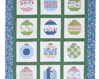 Christmas Vintage Holiday Quilt Kit Thimble Blossoms Ornaments Pattern