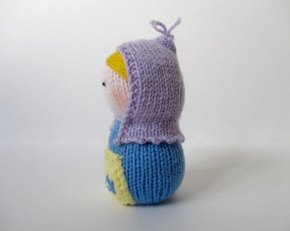 Knitting Pattern Russian Doll : Matryoshka toy doll knitting pattern from fluffandfuzz on ...