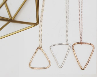 Geometric Triangle Necklace by jessicaNdesigns™