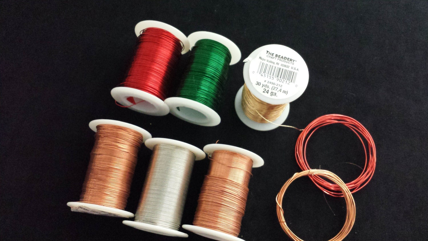 Craft wire six spools 30 yards 24 gauge from for 24 gauge craft wire