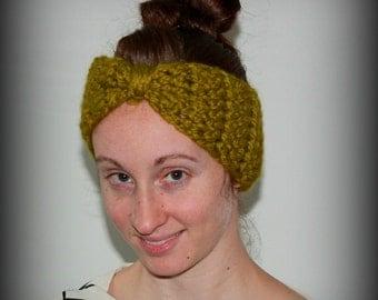 Crochet Bow Ear Warmer