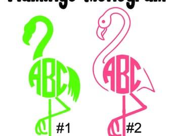 flamingo Monograms