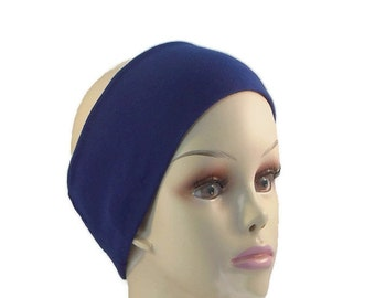 Headbands 3 Inch Wide Cotton Jersey- Wear Alone Or Under Other Headwear,6 Colors Available
