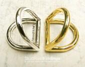 10pcs 24x20.5mm Double D-RING ZINC alloy For Bag, Purse Strap